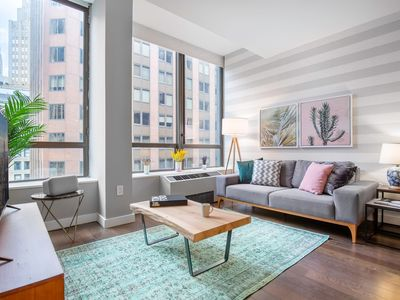 Photo for Palatial Wall Street 1BR w/ Luxury gym + Doorman by Blueground