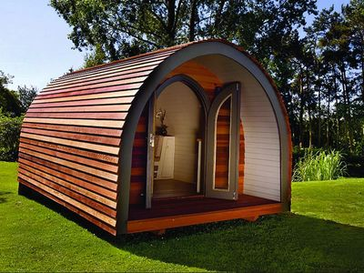 """Photo for River Hideout with """"Wood Fired"""" Hot Tub"""