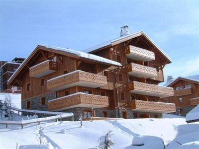 Photo for MENUIRES (1850m) Luxury Flat  9p on slopes in recent chalet