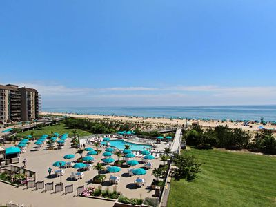 Photo for 405S: Renovated 2BR Sea Colony Oceanfront condo! Private beach, pools, tennis ...