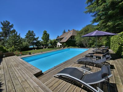 Photo for Menthon St Bernard - Swiming pool: Villa Chapelle