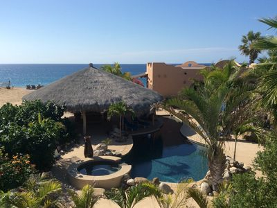 Photo for Beachfront, pool, palapa, stunning views