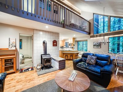 Photo for Mt. Baker Lodging Cabin #55 - HOT TUB, WOOD STOVE, BBQ, SLEEPS 10!