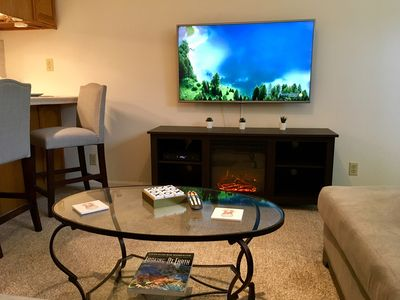 You'll enjoy the 50 inch high-definition TV when it's time to relax.