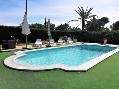 Photo for Beautiful Villa with WIFI, pool, AC and barbecue in the Parc Natural de Mondragó