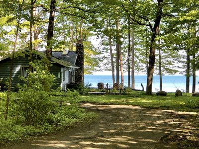 Entrance to Stoney Point Cottage with it's endless views of Lake Erie