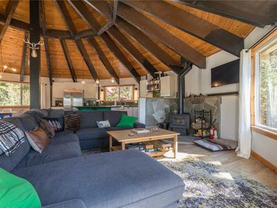 """Photo for """"Poly Lodge""""  Unique and creative updated home. Forest views at every angle."""
