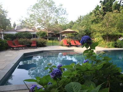 Photo for Stunning Hamptons 5 bedroom house with pool house close to the beach