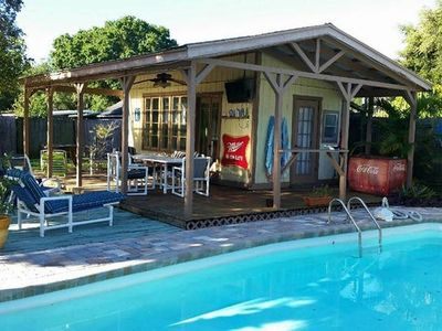 Photo for Tampa's Coolest Key West Style Pool Home & Cabana
