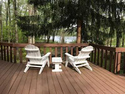 Enjoy the peaceful setting and the ever changing lake views.