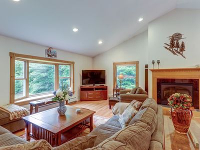Photo for NEW LISTING! Warm & welcoming home in the woods w/ full kitchen - near skiing