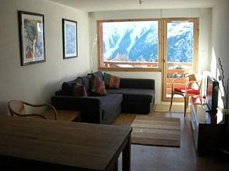Main living area overlooking the mountains