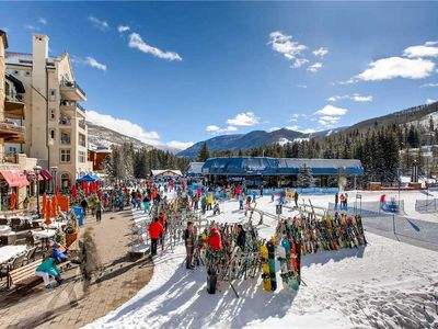 Photo for Ski-in/ski-out mountain view condo – shared pool and hot tubs