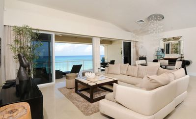Photo for Luxurious Condo on 7 Mile Beach, Expansive Beach/Water Views, 5star Decor
