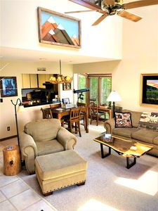 Great room with warm seating and comfortable settings.