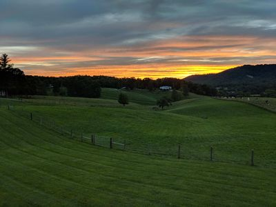 Photo for Rose View Farm - Open Pastoral & Mountain Views minutes from Asheville