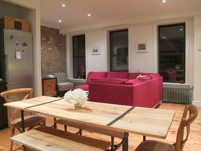 Photo for Huge Manhattan 3 BD 3 BA Elevator 165 sqm 1800 sq ft + Outdoor Patio