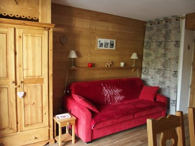 Photo for Studio cabin 4 p, excellent comfort, renovated, 100 m from the slopes