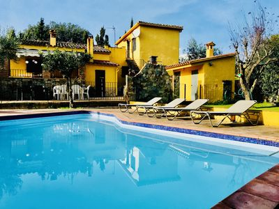 Photo for Villa with huge garden, big pool, two covered ve