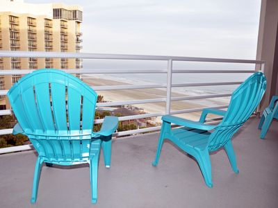 Photo for Fabulous in Kingston Plantation, oversize balcony, Free WiFi Ocean view,