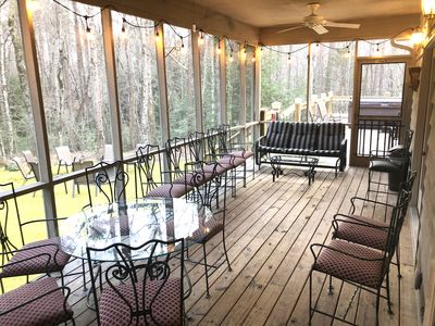 Photo for THE SHIRE -10/11 bdrm ~44ppl  6 miles  Chatt.~2 Houses XL HOT TUB 900 sq ft deck