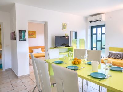 Photo for 2/3-bedroom modern apartment Carpe Diem with outdoor pool, Wi-Fi, Sea View