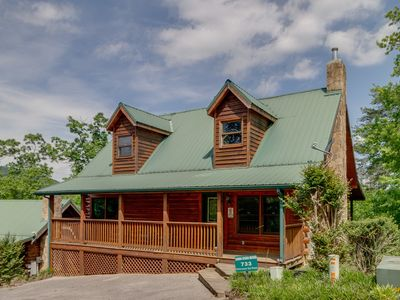 Photo for Mountain paradise surrounded by lush landscape w/private hot tub and shared pool