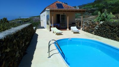 Photo for Finca with stunning sea views and pool