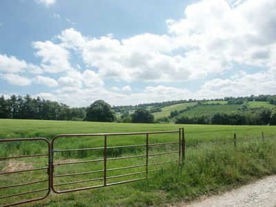 Views of rolling Wexford countryside from the property