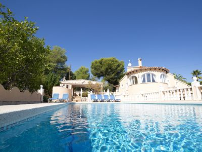 Photo for This 6-bedroom villa for up to 12 guests is located in Calpe and has a private swimming pool, air-co