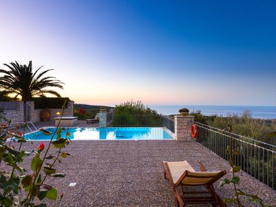 Photo for Villa Efrosini - Panoramic View, Full Privacy, Quietness, Close to Beach & City