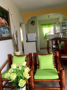 This apartment is equipped kitchen, bathroom, Hot water Wifi and Cable TV plasma