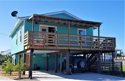 Photo for 2 BR Stilt Home, Pet-Friendly, and Close to the Beach!  Room to Park a Boat!
