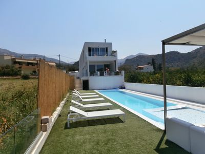 Photo for Wake up and relax among the orange trees! Villa with private pool!!