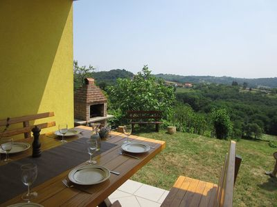Photo for The house has 3 bedrooms and a large terrace with a view of the vineyards