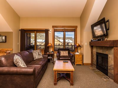 Photo for River Run Condo, King Bed, Extra Full Bathroom, Mountain Views, Free WIFI