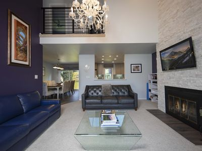 Photo for Contemporary Townhouse, best location in Dillon. MTN Views, with heated pool.