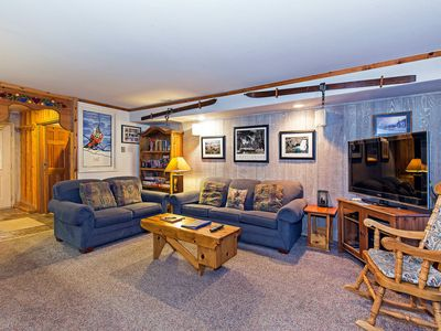 Photo for Condo w/ shared indoor hot tub on shuttle route, WiFi - family friendly!