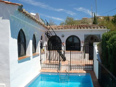 Photo for An idyllic country house, private pool, sea views near Torrox and Nerja in Andalucia