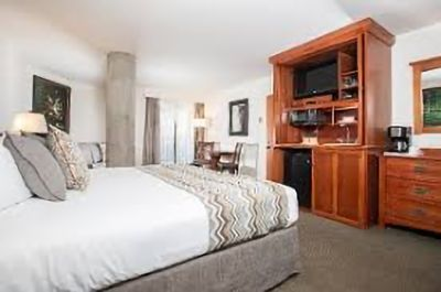 Two master bedrooms with full media and coffee and microwave set up