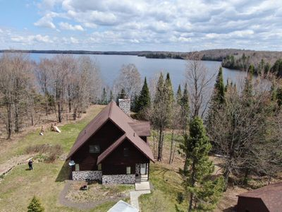 Stunning Arial View of our Home and Presque Isle Lake