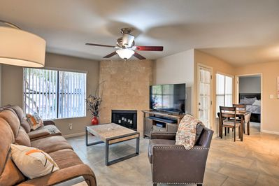 This 2-bed, 2.5-bath unit provides space for the group to spread out.
