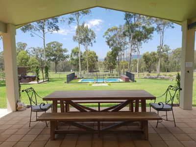 Photo for Lacuna Retreat - Fabulous for family or friends - 5 bdrms, pool, spa, fireplace, games room and more!