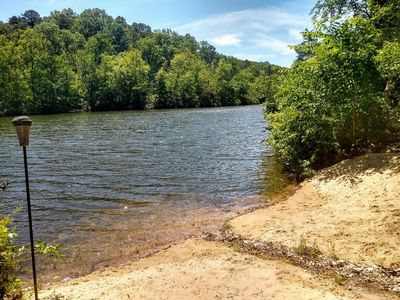 Photo for Lakefront House with Private Sandy Beach