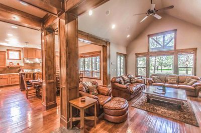 Gorgeous living room - Welcome to #9 Virginia Rail Lane.  Luxury home with pool table and A/C!