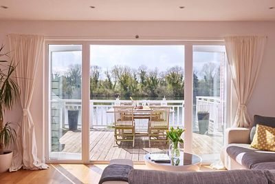 Ground floor: The open plan living area flows out onto the private deck