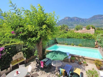 Photo for Traditional Majorcan town house with a nice pool and garden in Soller.Free WiFi