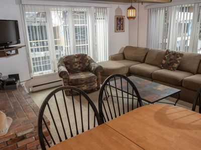 Photo for Nice open 3 bedroom condominium, one block from downtown Aspen.  Club passes included.CD14