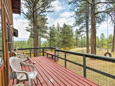 Photo for Pagosa Springs Cabin w/ Deck, Yard & Mtn Views!