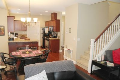 Open floor plan for comfortable dining and socializing.